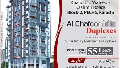 Al Ghafoor Duplexes Karachi